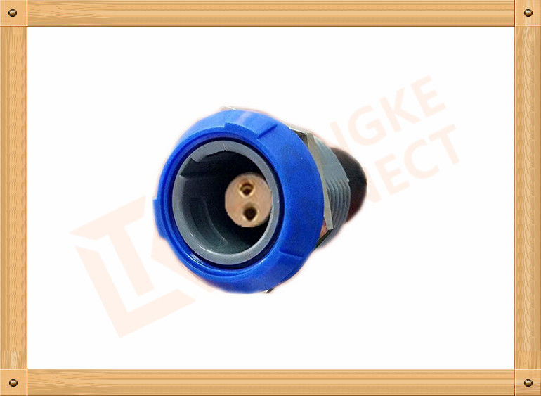 Push Pull 2 Pin Circular Connector Self Locking / Double Reed Locked