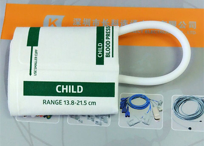 Plastic NIBP Cuff , TPU Disposable Blood Pressure Cuffs In White Color