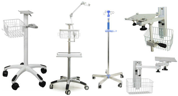 50KG Load Capacity Medical Trolley Cart Standard Sliver For Hospital / Clicnic